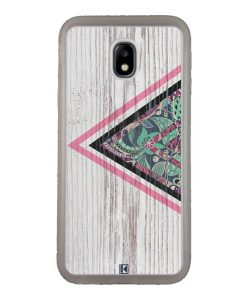 Coque Galaxy J3 2017 – Triangle on white wood