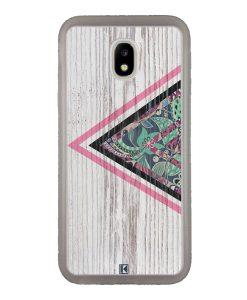 Coque Galaxy J5 2017 – Triangle on white wood