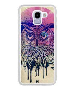 Coque Galaxy J6 2018 – Owl face