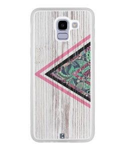 Coque Galaxy J6 2018 – Triangle on white wood