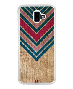 Coque Galaxy J6 Plus – Chevron on wood