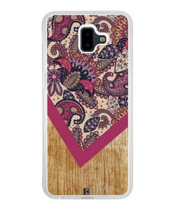 Coque Galaxy J6 Plus – Graphic wood rouge