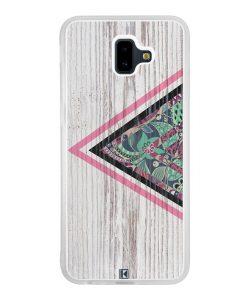Coque Galaxy J6 Plus – Triangle on white wood