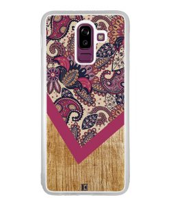 Coque Galaxy J8 2018 – Graphic wood rouge