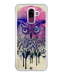 Coque Galaxy J8 2018 – Owl face