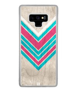 Coque Galaxy Note 9 – Chevron on white wood