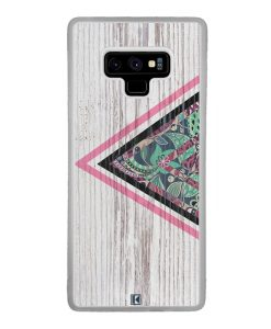 Coque Galaxy Note 9 – Triangle on white wood