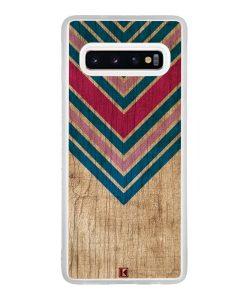 Coque Galaxy S10 – Chevron on wood