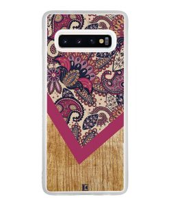 Coque Galaxy S10 – Graphic wood rouge