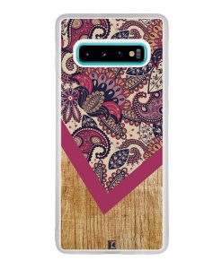 Coque Galaxy S10 Plus – Graphic wood rouge