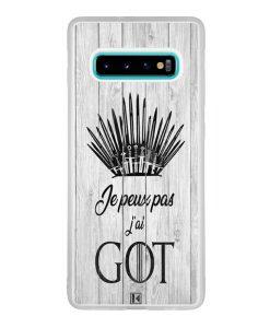 Coque Galaxy S10 Plus – Je peux pas j'ai Game of Thrones