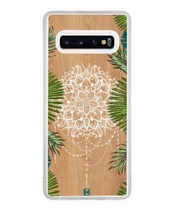 Coque Galaxy S10 – Tropical wood mandala