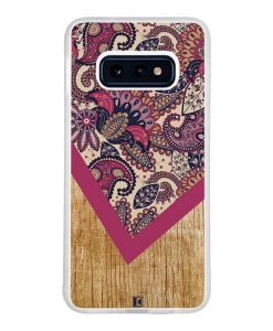 Coque Galaxy S10e – Graphic wood rouge