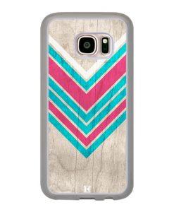 Coque Galaxy S7 – Chevron on white wood