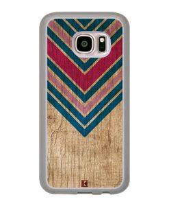 Coque Galaxy S7 – Chevron on wood