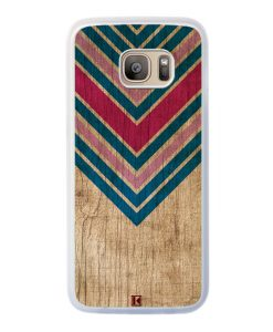 Coque Galaxy S7 Edge – Chevron on wood