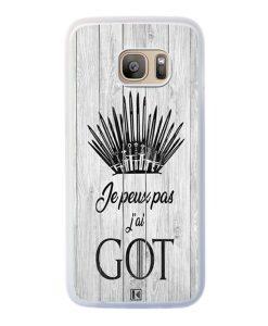 Coque Galaxy S7 Edge – Je peux pas j'ai Game of Thrones
