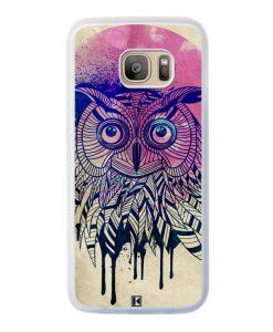 Coque Galaxy S7 Edge – Owl face