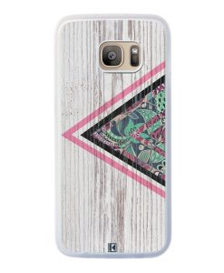 Coque Galaxy S7 Edge – Triangle on white wood