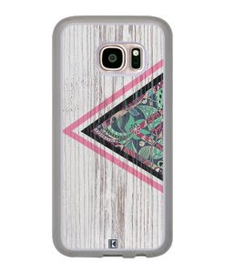 Coque Galaxy S7 – Triangle on white wood
