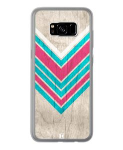 Coque Galaxy S8 Plus – Chevron on white wood