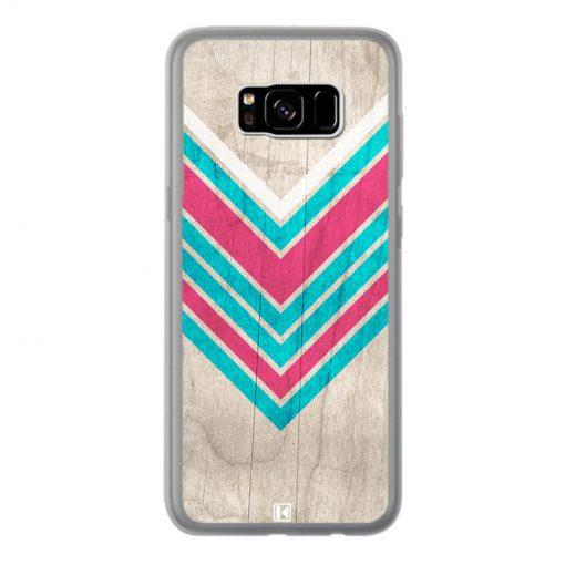 Coque Galaxy S8 Plus – Chevron on white wood
