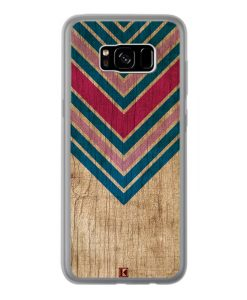 Coque Galaxy S8 Plus – Chevron on wood