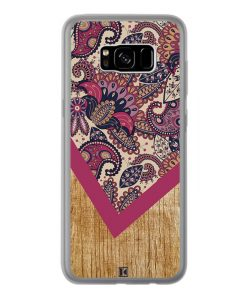 Coque Galaxy S8 Plus – Graphic wood rouge