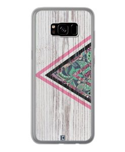 Coque Galaxy S8 Plus – Triangle on white wood