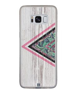 Coque Galaxy S8 – Triangle on white wood