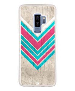 Coque Galaxy S9 Plus – Chevron on white wood