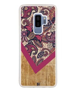 Coque Galaxy S9 Plus – Graphic wood rouge
