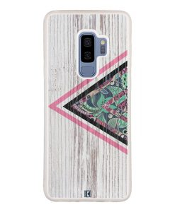 Coque Galaxy S9 Plus – Triangle on white wood