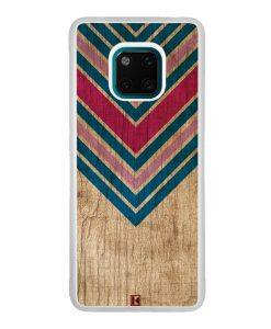 Coque Huawei Mate 20 Pro – Chevron on wood