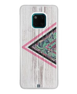 Coque Huawei Mate 20 Pro – Triangle on white wood