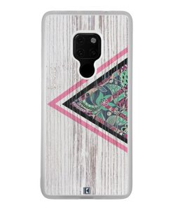 Coque Huawei Mate 20 – Triangle on white wood