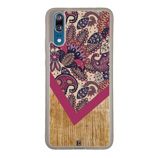 Coque Huawei P20 – Graphic wood rouge