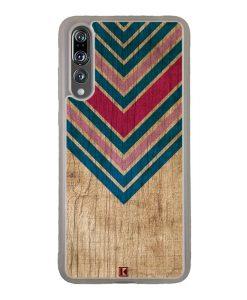 Coque Huawei P20 Pro – Chevron on wood