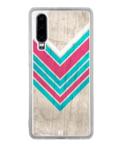 Coque Huawei P30 – Chevron on white wood
