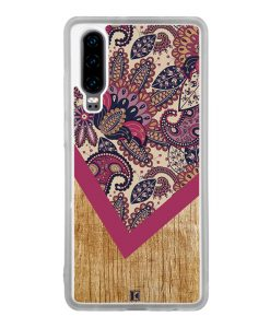Coque Huawei P30 – Graphic wood rouge