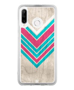 Coque Huawei P30 Lite – Chevron on white wood