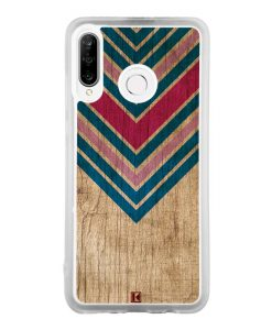 Coque Huawei P30 Lite – Chevron on wood