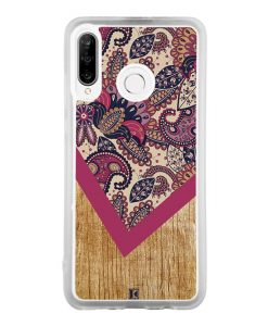 Coque Huawei P30 Lite – Graphic wood rouge