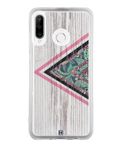 Coque Huawei P30 Lite – Triangle on white wood