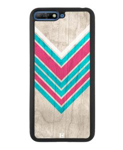 Coque Huawei Y6 2018 – Chevron on white wood