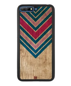 Coque Huawei Y6 2018 – Chevron on wood