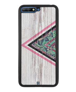 Coque Huawei Y6 2018 – Triangle on white wood