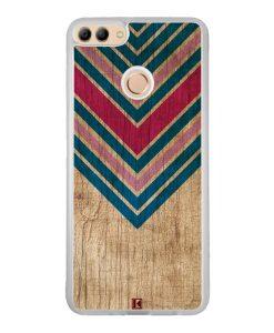 Coque Huawei Y9 2018 – Chevron on wood