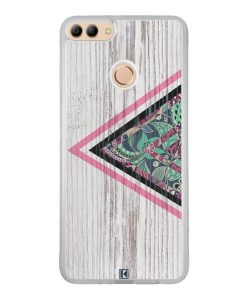 Coque Huawei Y9 2018 – Triangle on white wood