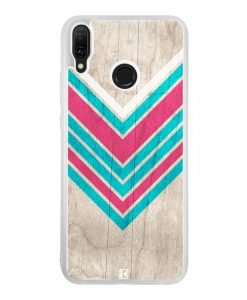 Coque Huawei Y9 2019 – Chevron on white wood